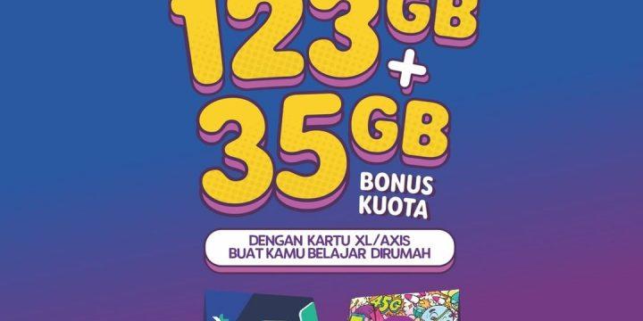 Program Pendidikan Online XL dan Axis Bagi Kuota Gratis 123 GB
