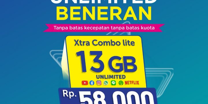 Kuota XL 13GB FULL 24JAM Hanya Rp 58.000 BENERAN UNLIMITED Youtube, Whatsapp, Instagram, Facebook, Netflix, Gojek