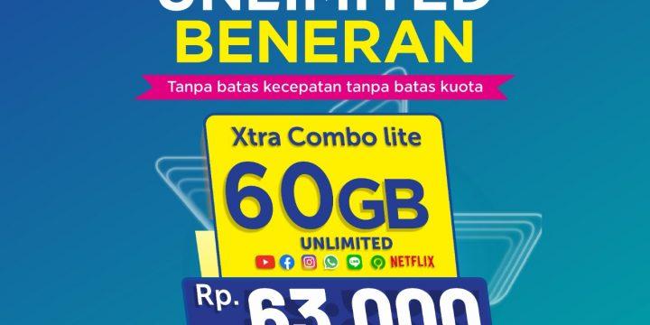 Kuota XL 60GB FULL 24JAM Hanya Rp 63.000 BENERAN UNLIMITED Youtube, Whatsapp, Instagram, Facebook, Netflix, Gojek